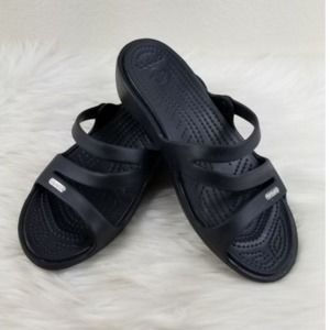 Crocs Black Sandal Womens Sz 7